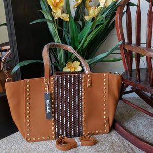 Oversize Brown studded Tote